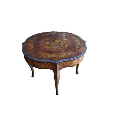Superb Dutch Table From The 1700s Richly Inlaid