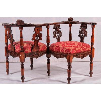 Confident Oak Sofa From The 1800s