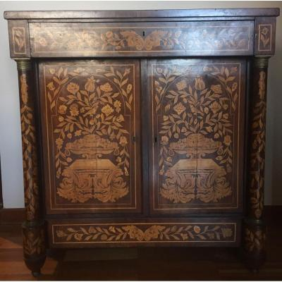 Richly Inlaid Dutch Buffet From The 1700s