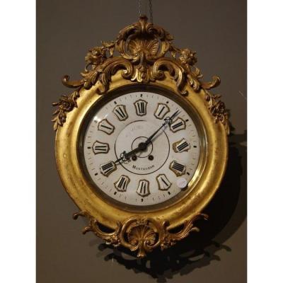Pendule Louis XV à La Feuille d'Or De 1800