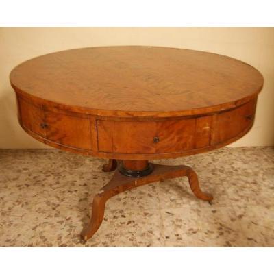 Table Autrichienne En Bouleau De Style Biedermeier Des Années 1800