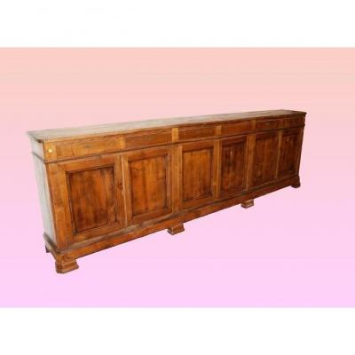 Large Empire Style Buffet Of 3.50 Meters From The 1800s In Cherry