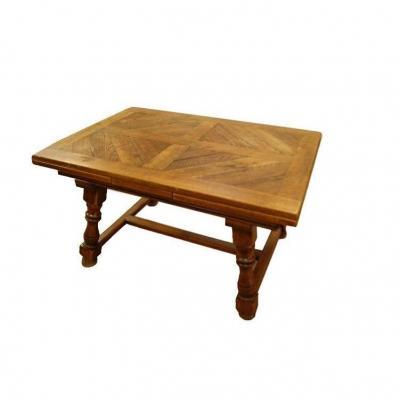 Table De Style Rustique Français Des Années 1800 En Chêne