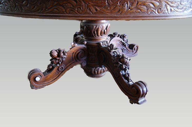 Table à Rallonges De Style Louis Philippe En Chêne-photo-2