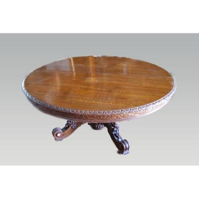 Louis Philippe Style Extendable Table In Oak