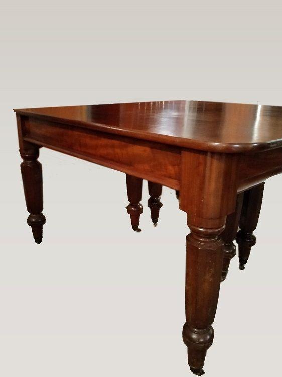Table Extensible De Style Victorien Anglais En Acajou Del 1800-photo-3