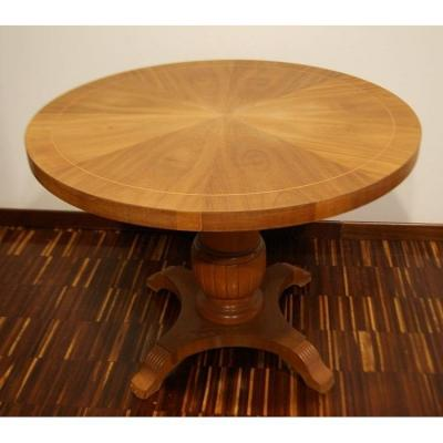 Swedish High And Low Circular Table From The Early 1900s