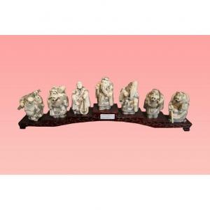 Oriental Mammoth Ivory Sculptures