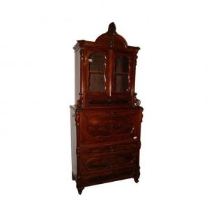 Biedermeier Style Secretary With Risers From 1800 Northern Europe In Mahogany