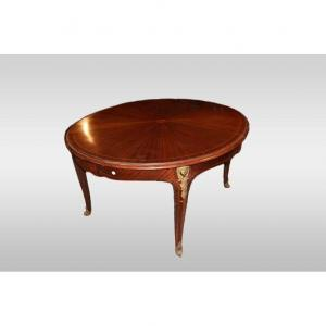 1800 Louis XV Style Extendable Oval Table In Mahogany