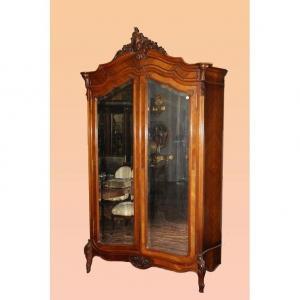 1800 Cabinet 2 Doors Louis Philippe Style In Walnut