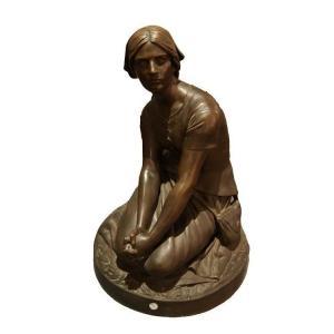 Sculpture By Henri Chapu Representative Joan Of Arc Des Annees1800