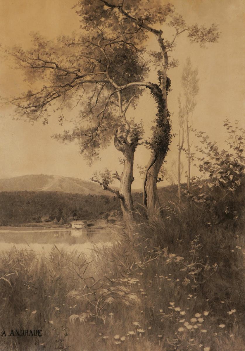 Alfredo d'Andrade, Lakeside Landscape