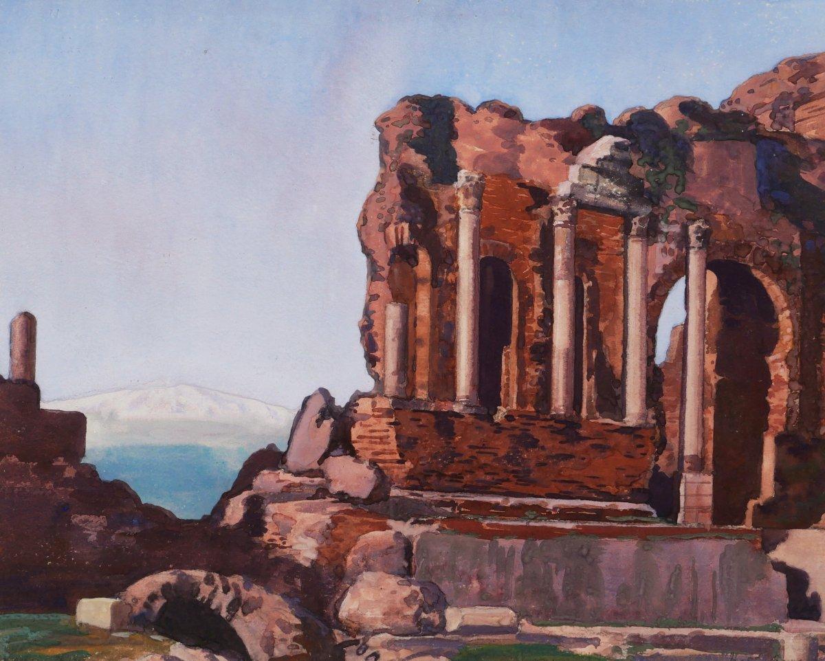 Marius AVY, Ruines du théâtre romain à Taormine en Sicile