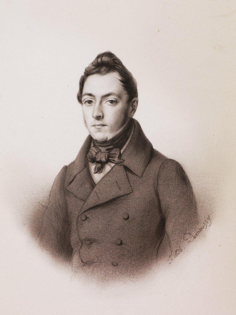 Augustin-Luc DEMOUSSY, Portrait de Jules Pourrier