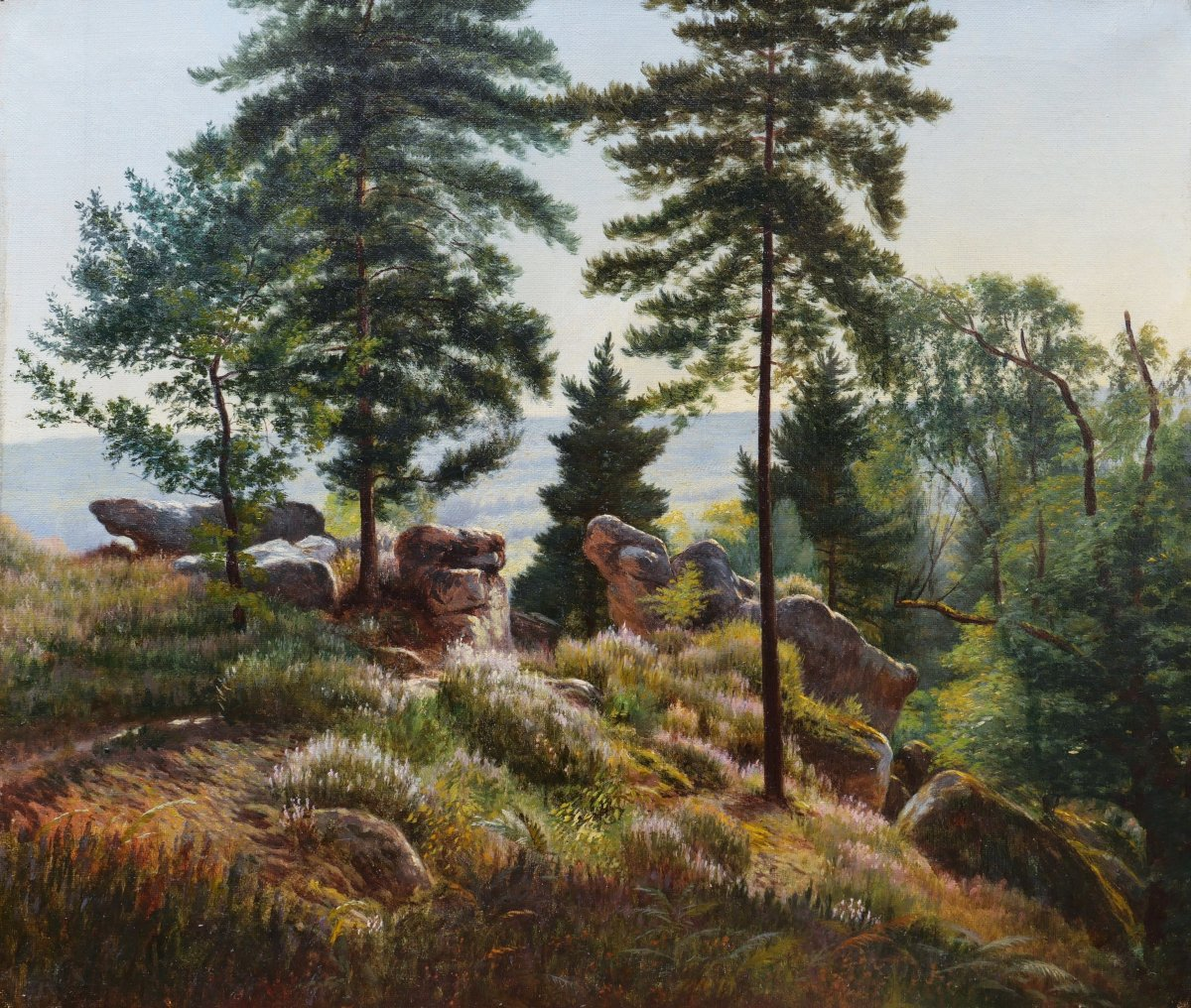 French School, Late Nineteenth Century, Landscape In The Forest Of Fontainebleau