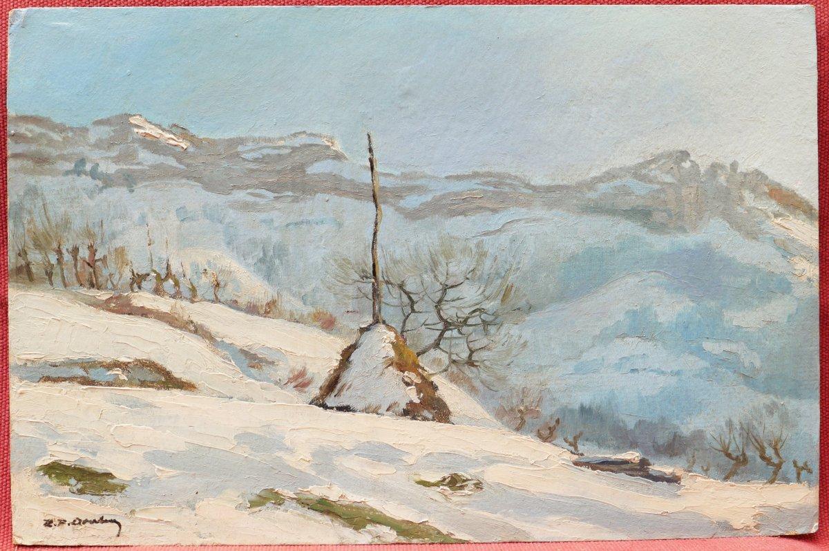 École FRANÇAISE de la fin du XIXème siècle, Malleval-en-Vercors en hiver sous la neige-photo-4