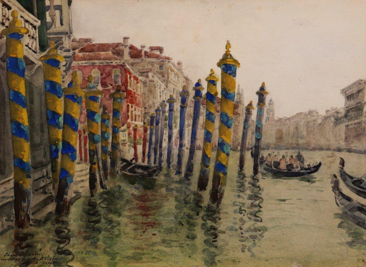 Charles TOCHÉ, Vue sur le Grand Canal à Venise