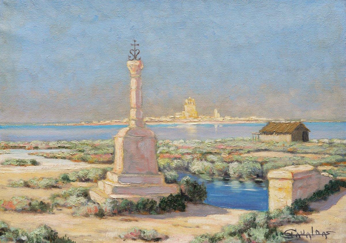 Edoardo Garcia Gavalda, The Fishermen's Cross In Saintes-maries-de-la-mer