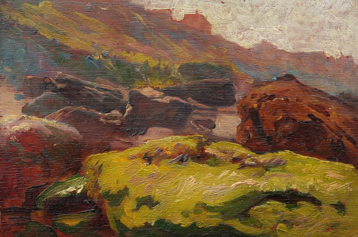 Paul Sieffert, Landscapes And Characters, Set Of Seven Paintings
