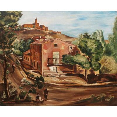 Henry De Waroquier, Paysage d'Italie