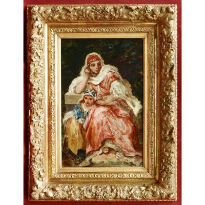 Attribué à Narcisse DIAZ de la PEÑA, Femme d'Orient