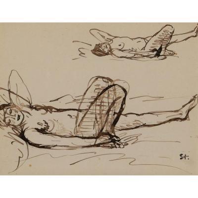 Théophile Alexandre STEINLEN, Nus allongés