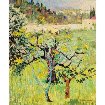 Paul Étienne SAÏN, Paysage près de Grasse