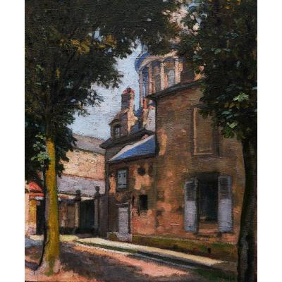 Maurice Ruffin, Street In Boulogne-sur-mer Near The Basilica