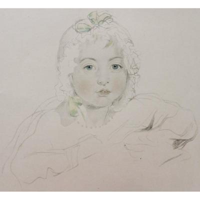 École FRANÇAISE du XXème siècle, Portrait de petite fille
