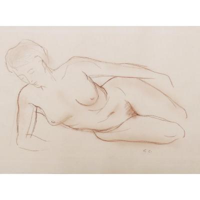 Gérard CHOAIN,  Nu féminin allongé