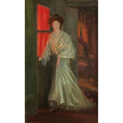 Henry BOUVET, Femme dans un intérieur