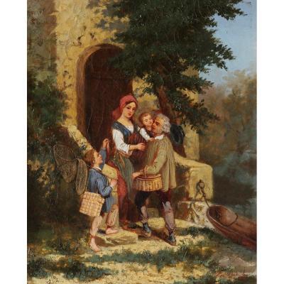 Pierre Louis DUPLAT,  Le Retour de la pêche