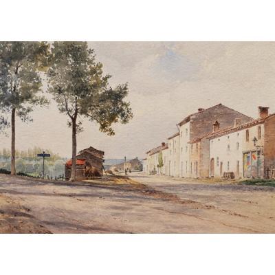 École FRANÇAISE circa 1910, Deux paysages du Pays Basque