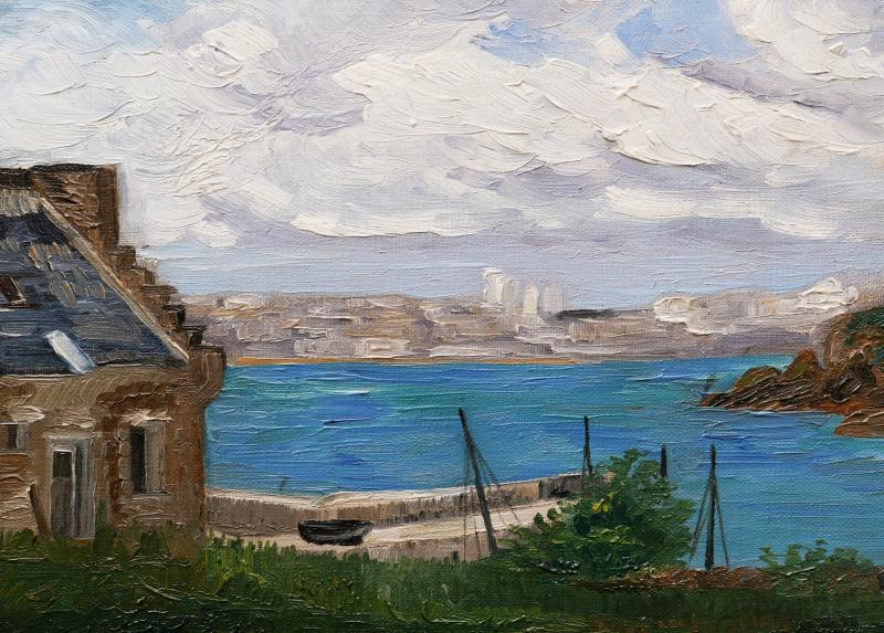 Attribué à Maurice CHABAS, Paysage de Bretagne en bord de mer-photo-3