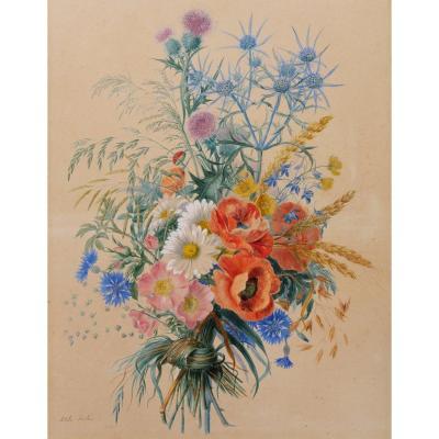 Adèle RICHÉ, Bouquet de fleurs des champs