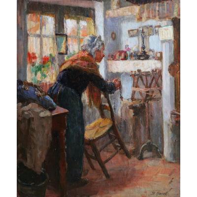 Suzanne HUREL, Vieille femme de Bruges en prière