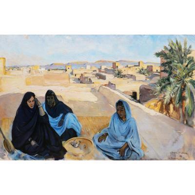 Louise Morel, The Terraces In Atar (mauritania)