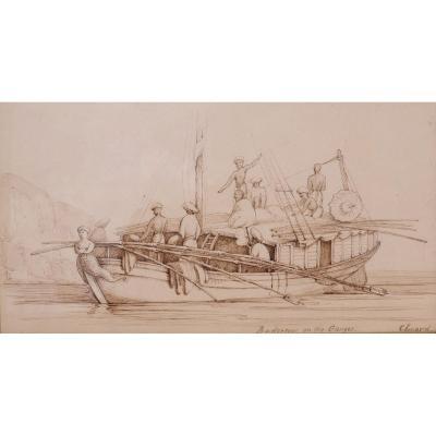 Captain John LUARD , Budgerow on the Ganges