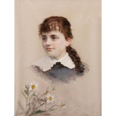 École FRANÇAISE du XIXème siècle, Portrait de Marguerite