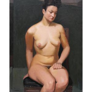 Yves BECMEUR, Nu féminin assis