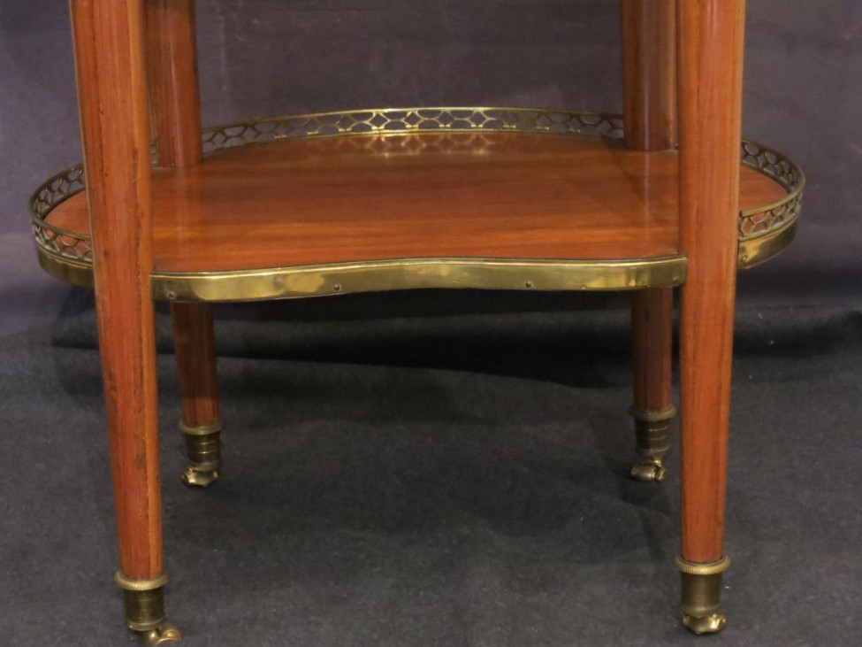 Coffee Table Louis XVI Signed Cosson-photo-3