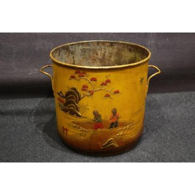 Painted Sheet Metal Cooling Bucket Early 18th Century