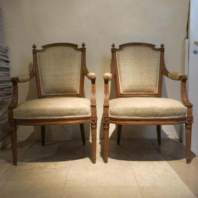 paire de cabriolets époque Louis XVI
