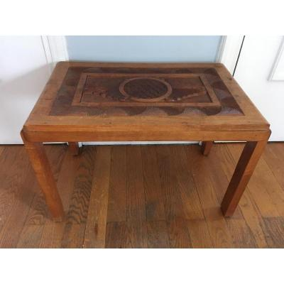 Table d'Appoint Art Déco Style Colonial