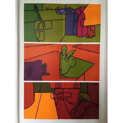 Valerio Adami édition Maeght 1974