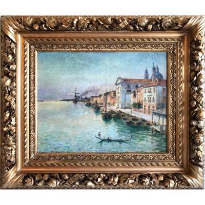 """""""Venise, le quai des Zattere"""" Adolf Sandoz"""