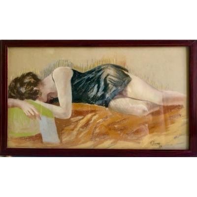 """""""young Woman With The Letter"""" Ec. French"""