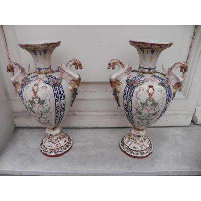 Vases En Faïence Lustrée