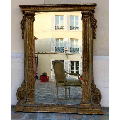 Miroir Trumeau d'époque Louis XVI . 18e siècle